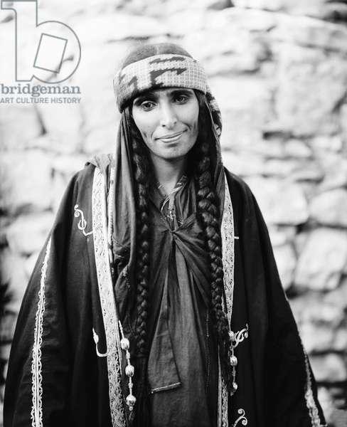 BEDOUIN WOMAN, c.1910 Portrait of a bedouin woman, c.1910.
