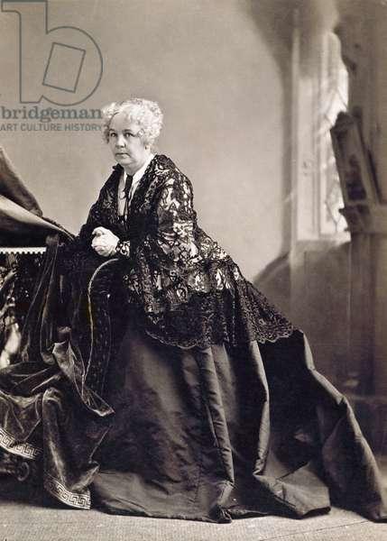ELIZABETH CADY STANTON (1815-1902). American women's suffrage advocate. Original cabinet photograph by Napoleon Sarony, c.1870.