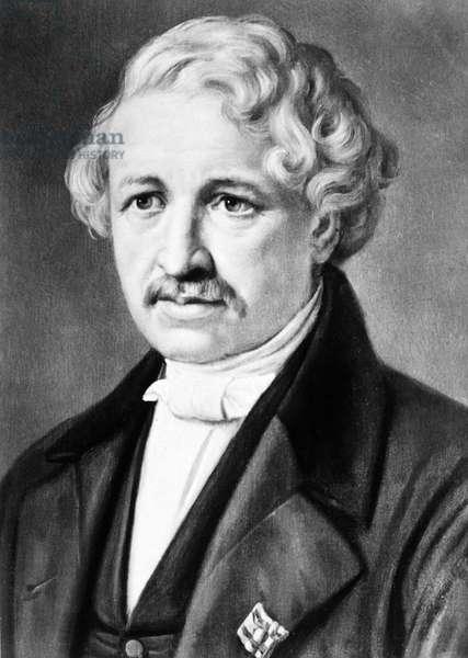 LOUIS DAGUERRE (1789-1751) Louis Jacques Mande Daguerre. French painter and inventor of the daguerreotype.