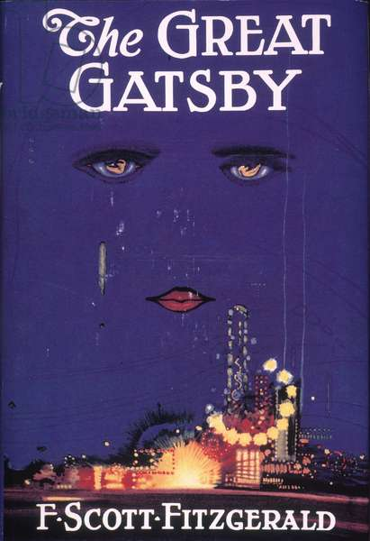 Cover of the first edition of 'The Great Gatsby', by F. Scott Fitzgerald, 1925 (print)