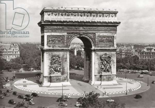 PARIS: ARC DE TRIOMPHE Photographed mid-20th century.