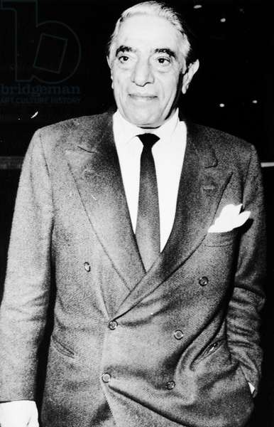 ARISTOTLE ONASSIS (1900-1975) Greek shipping magnate. Photographed in London, England, in 1972.