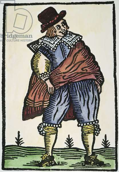 SHAKESPEARE: MERRY WIVES OF WINDSOR. Falstaff from 'The Merry Wives of Windsor.' Engraving, early 17th century.