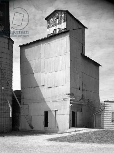 ILLINOIS: GRAIN ELEVATOR A grain elevator in Lockport, Illinois, built around 1890. Photograph, 1988.