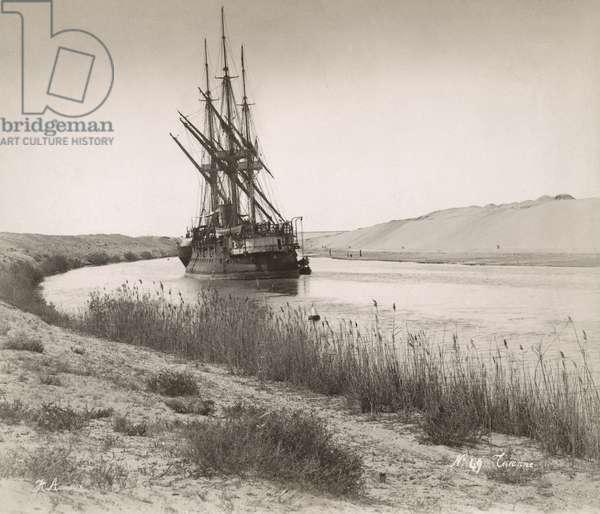 SUEZ CANAL, c.1895 Suez Canal, Egypt.
