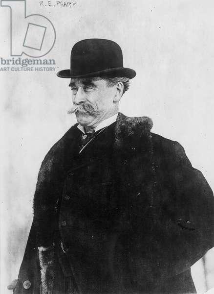 ROBERT PEARY (1856-1920) American arctic explorer. Photographed in 1916.