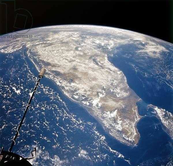 EARTH FROM SPACE, 1966 A view of India, Sri Lanka and the Maldive Islands, the Arabian Sea and the Bay of Bengal. Photographed by astronauts aboard the Gemini XI, 1966.