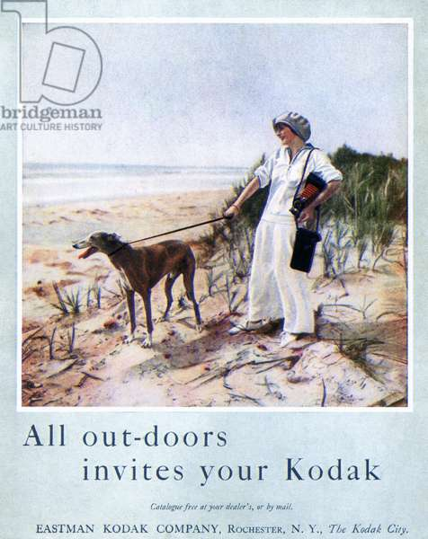 KODAK ADVERTISEMENT, 1914 'All out-doors invites your Kodak.' Advertisement for a Kodak hand-held camera, from an American magazine, 1914.