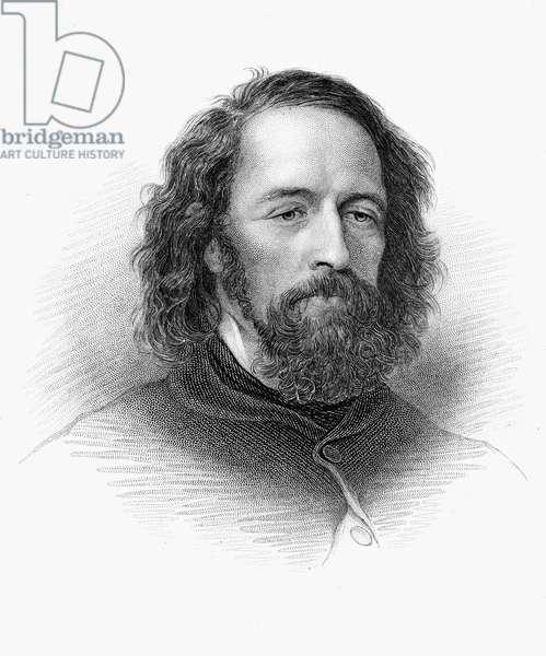 ALFRED TENNYSON (1809-1892) 1st Baron Tennyson. English poet. Stipple engraving, 19th century.