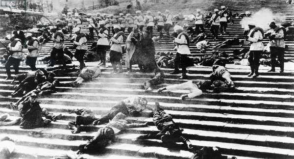 BATTLESHIP POTEMKIN, 1925 The massacre on the Odessa Stairs in the Soviet film 'The Battleship Potemkin' directed by Sergei Eisenstein, 1925.