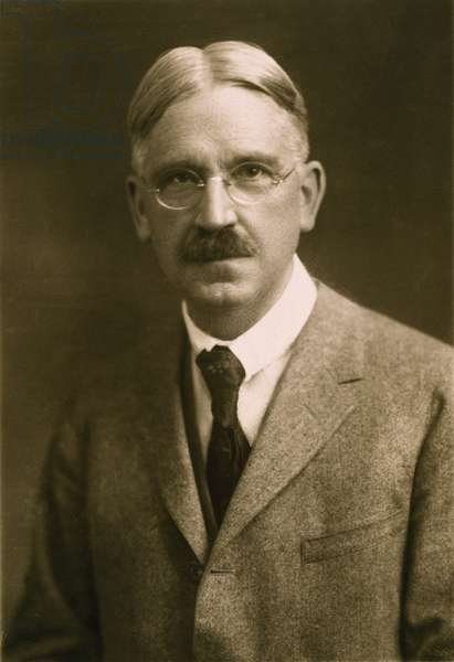 JOHN DEWEY (1859-1952) American philosopher, psychologist, and educator. Photographed in 1923.