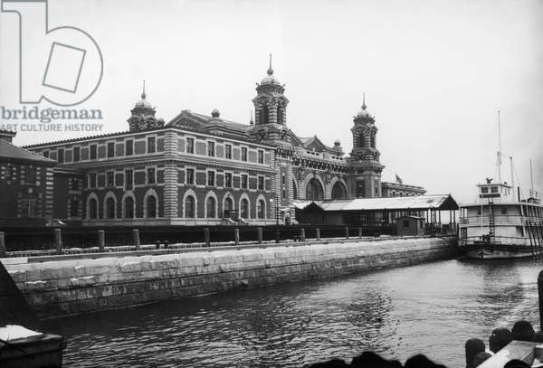 ELLIS ISLAND, 1912 The main building at the immigration station in New York Harbor, 1912.