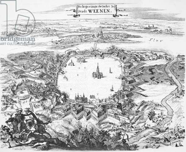 VIENNA: SIEGE, 1683 The second siege of Vienna, Austria, by the Turks in 1683. Contemporary Dutch engraving.