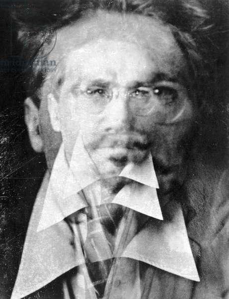 EZRA LOOMIS POUND  (1885-1972). American poet, 1916 (b/wphoto)