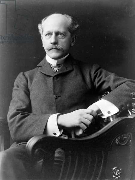 PERCIVAL LOWELL (1855-1916). American astronomer. Photograph, c.1904.