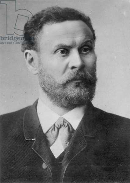 OTTO LILIENTHAL (1848-1896) German aeronautical engineer.