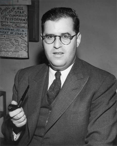 ABBA EBAN (1915-2002) Israeli politician and diplomat; photographed c.1955.