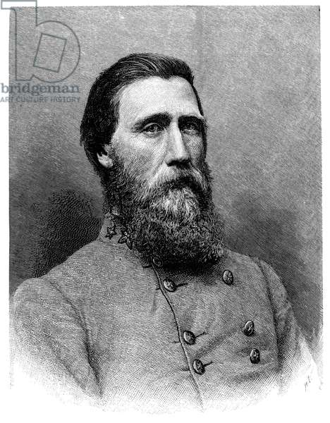 JOHN BELL HOOD (1831-1879) American army officer. Line engraving after a photograph taken while in Confederate service during the American Civil War.