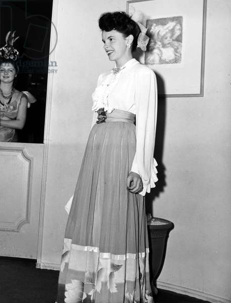 JUDY GARLAND (1922-1969) American singer and actress. Photographed in 1941.