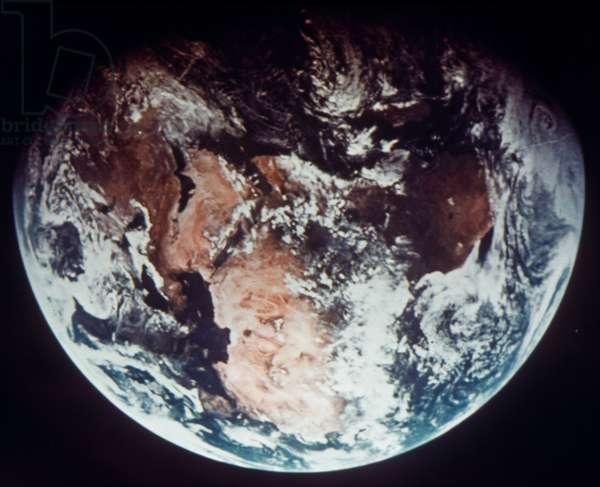 APOLLO 11: EARTH Apollo 11: View of Earth from 160,000 miles.