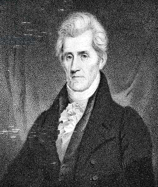 ANDREW JACKSON (1767-1845) Seventh President of the United States. Stipple engraving, 19th century.