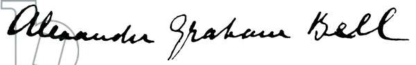 ALEXANDER GRAHAM BELL (1847-1922) American (Scottish-born) teacher and inventor. Autograph signature.