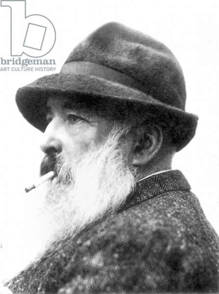 CLAUDE MONET (1840-1926) French painter. Photographed c.1920, by Henri Manuel.