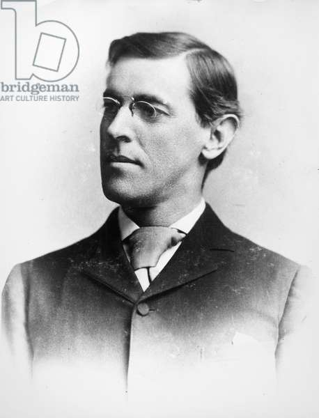 WOODROW WILSON (1856-1924) 28th President of the United States. Photographed while a professor at Princeton University, c.1890.