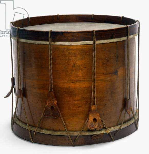 CIVIL WAR DRUM Snare drum, 1861, used in the American Civil War by a Union regiment from Maine.