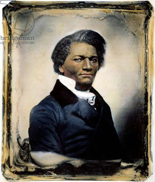 FREDERICK DOUGLASS ( c.1817-1895). American abolitionist and writer. Oil over a daguerreotype, c.1855.