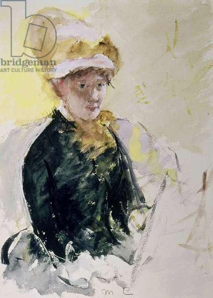 Self Portrait, c.1880 (gouache & w/c over graphite on paper)