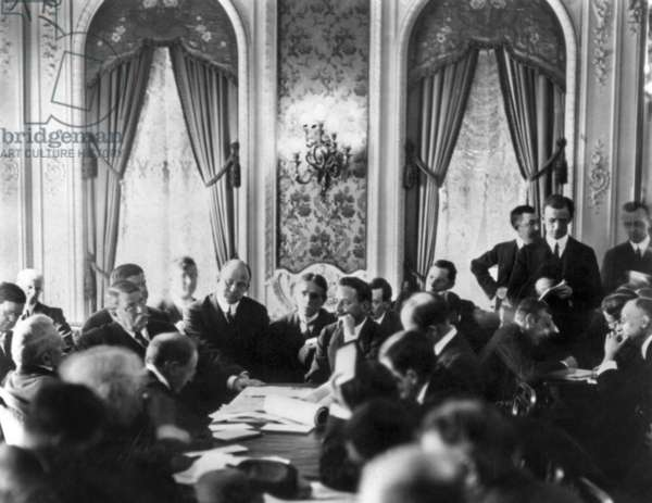 TITANIC: INQUIRY, 1912 United States Senate committee investigating the 'Titanic' disaster at the Waldorf Astoria Hotel, New York City. Photographed 27 May 1912.