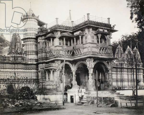 INDIA: ARCHITECTURE An Indo-Islamic building in India. Photograph, late 19th or early 20th century