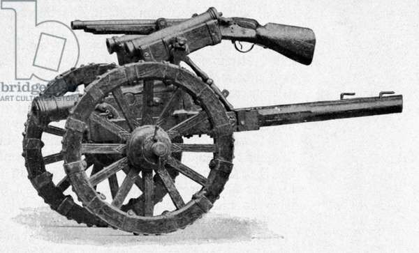 THIRTY YEARS WAR: CANNON A Bavarian cannon from the Thirty Years War, 1620s. Photograph.