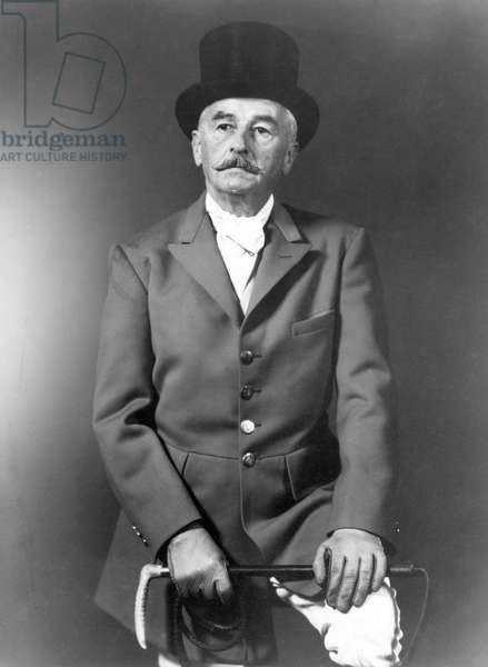 WILLIAM FAULKNER (1897-1962). American writer; photographed in 1960 in riding habit.