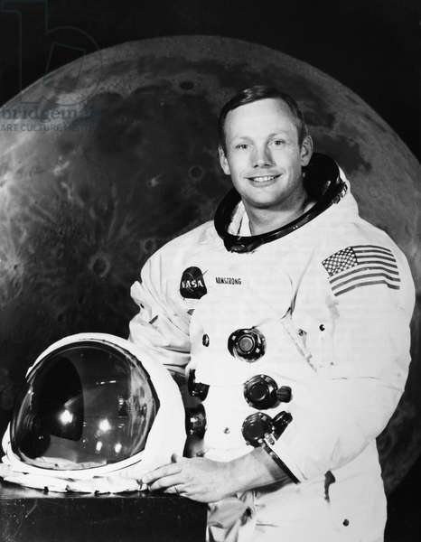 NEIL ARMSTRONG (1930-2012). American astronaut. Photographed at the Manned Spacecraft Center in Houston, Texas, July 1969.
