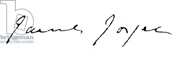 JAMES JOYCE (1882-1941) Irish writer. Autograph signature.