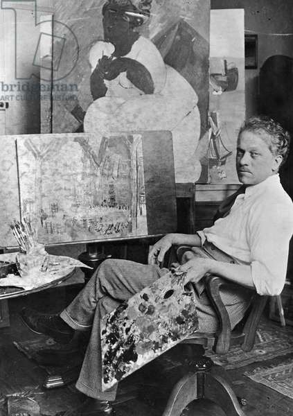 RAOUL DUFY (1877-1953) French painter and designer (b/w photo)