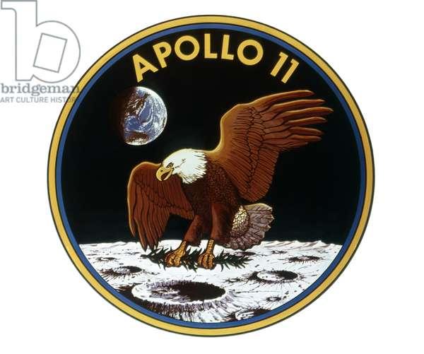 APOLLO 11: INSIGNIA, 1969 The official Apollo 11 mission insignia. Illustration, 1969.