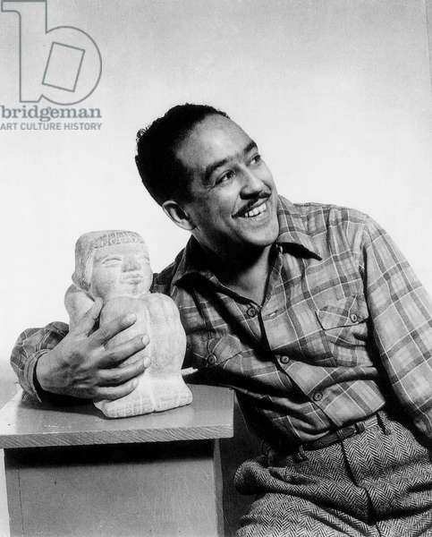 LANGSTON HUGHES (1902-1967) American writer. Photographed by Gordon Parks, 1943.