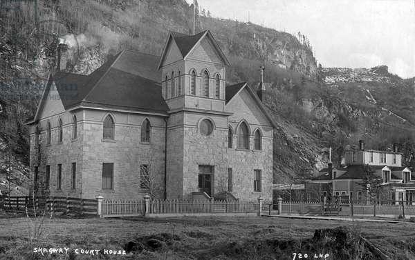 ALASKA: SKAGWAY COURTHOUSE The courthouse at Skagway, Alaska. Photograph, early 20th century.