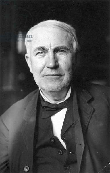 THOMAS EDISON (1847-1931) American inventor.