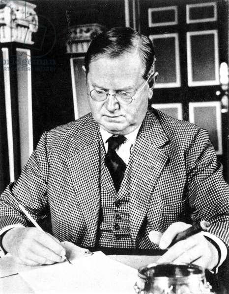 EVELYN WAUGH (1903-1966) English author.