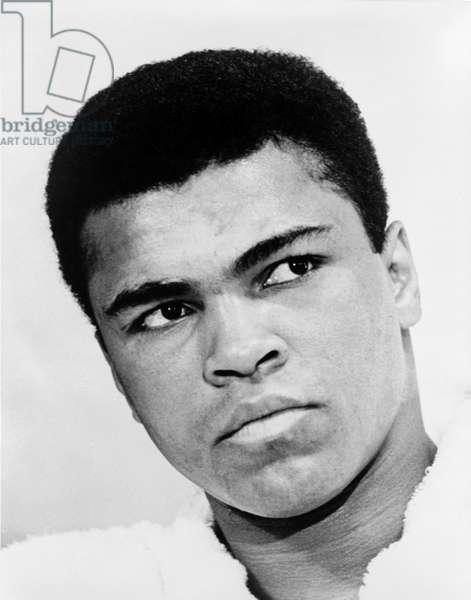 MUHAMMAD ALI (1942-2016) Né Cassius Clay. American heavyweight boxer. Photograph by Ira Rosenberg, 1967.