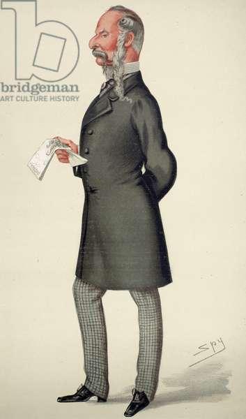 SIR JOHN TENNIEL (1820-1914). English cartoonist and illustrator. Caricature lithograph, 1878, by 'Spy' (Sir Leslie Ward).