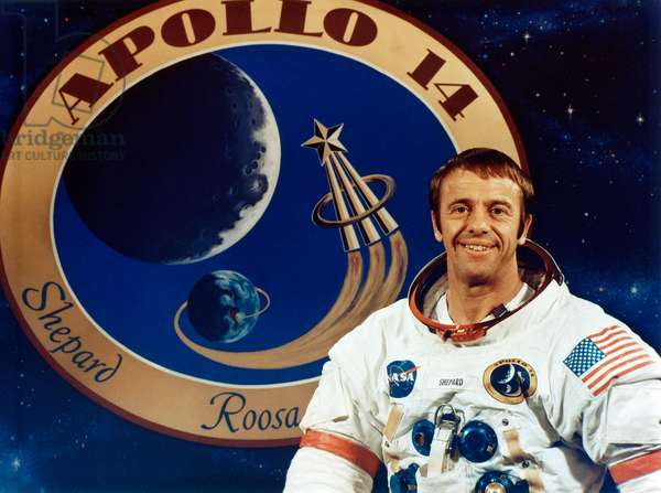 ALAN SHEPARD (1923-1988) American astronaut and commander of the Apollo 14 mission. Photograph, 1985.