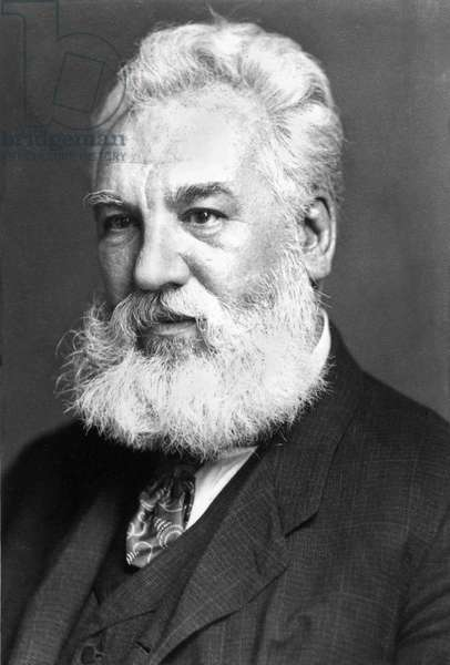 ALEXANDER GRAHAM BELL (1847-1922). American (Scottish-born) teacher and inventor. Photographed in 1904.