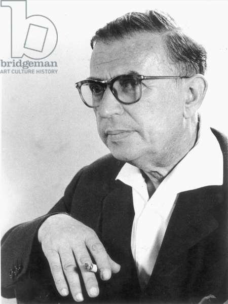 JEAN-PAUL SARTRE (1905-1980) French philosopher, novelist and dramatist. Photographed c.1959.