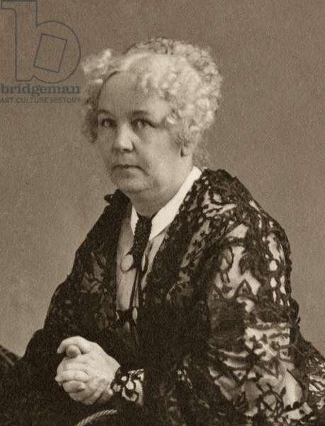 ELIZABETH CADY STANTON (1815-1902). American women's suffrage advocate. Photograph by Napoleon Sarony, c.1870.