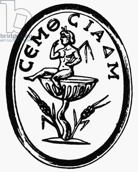 GNOSTIC SYMBOL Gnostic talisman of Harpocrates, god of silence.